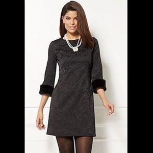 New York & Co Eva Mendes Fur Cuff Dress